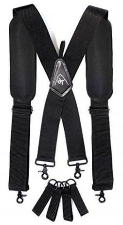 Tool Belt Suspenders- Heavy Duty Work Suspenders for Men,  A