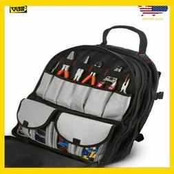 Tool Storage Backpack Organizer: Heavy Duty 50+ Pockets for