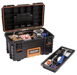 RIDGID Toolbox 22 in Pro Tool Box Portable Mechanic Chest Ca