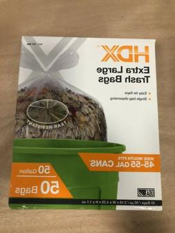 HDX 50 Gallon Extra Large Trash Bags Clear, Garbage Commerci