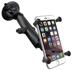 RAM Twist Lock Suction Cup Mount with Long Length Double Soc