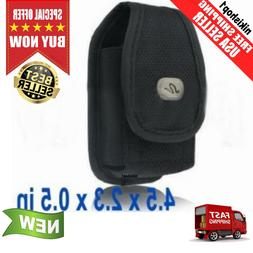 Universal Heavy Duty Nylon Canvas Flip Phone Case Pouch With