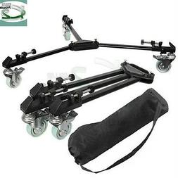 Universal Video Folding Wheels Heavy Duty Slider Tripod Doll