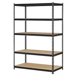 Edsal UR1848AZ-BLK Steel Storage Rack, 5 Adjustable Shelves