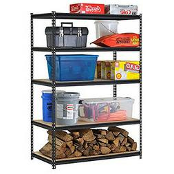Edsal URWM184872BK Black Steel Storage Rack, 5 Adjustable Sh