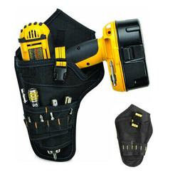 Heavy-Duty Cordless Drill Holster Tool Belt Pouch w/Bit Hold