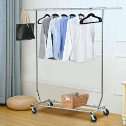 US Heavy Duty Commercial Garment Rack Rolling Collapsible Cl