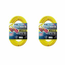 US Wire 50-Foot Heavy Duty Outdoor Extension Cord, Lighted P