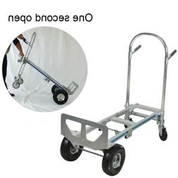 【USA】 2in1 Foldable Aluminum Hand Truck/Dolly &Utility C