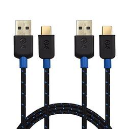 Cable Matters 2-Pack USB-C Cable  with Braided Jacket in Bla