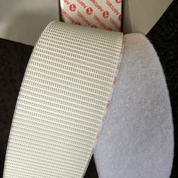 VELCRO® Brand Heavy Duty Stick On Tape in WHITE Hook & Loop