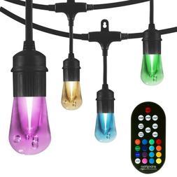 Vintage Seasons Integrated LED Color Changing Cafe String Li