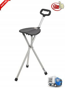 Walking Cane With Seat Folding Lightweight Chair Portable He