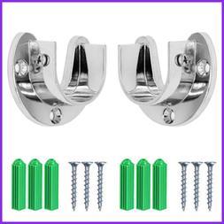 Wardrobe Bracket Heavy Duty Stainless Steel Rod Socket Flang