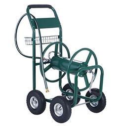 New 300FT Water Hose Reel Cart Garden Outdoor Yard Lawn Heav