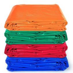 Waterproof PVC Vinyl Tarp Heavy Duty 12 Mil Ground Patio Gar