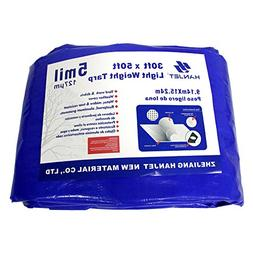 Waterproof Outdoor Tarps Tarpaulin Hanjet 30 x 50 Feet 5 Mil