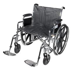 Wheelchair Std Dual-Axle 22 w/Rem Desk Arms & Elev Legrest