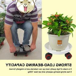 Wheeled Planter Caddy Dolly Holder Heavy Duty Plant Pot Rack