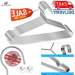 Wire Coat Hangers Strong Heavy Duty Stainless Steel Metal Ha