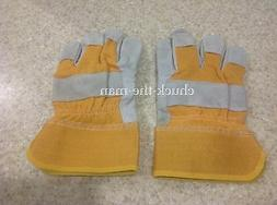 Work Gloves Heavy Duty Yellow Color Outdoors Home Work Garde