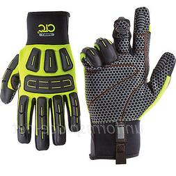 CLC Work Gloves Men Heavy Duty Oil and Gas Impact Gloves wit