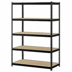 """Edsal 48""""W x 24""""D x 72""""H 5-Shelf Steel Shelving, Black"""