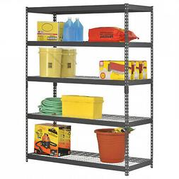 "Edsal 60""W x 24""D x 78""H Five-Shelf Heavy-Duty Steel Shelvin"