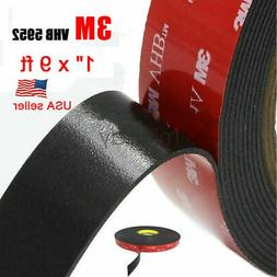 "3m 1""  X 9 Ft VHB Double Sided Foam Adhesive Tape 5952 Grey"